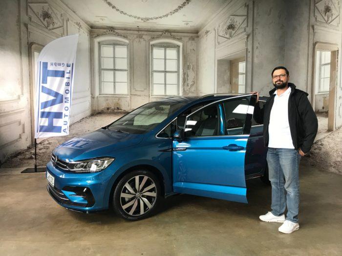 Kundengalerie Volkswagen Touran RLine Carribeanblue