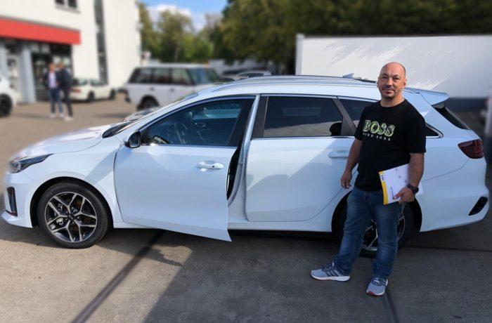 Kia Ceed Sportswagon 1. 4TGI GPF GT line Caraweiß